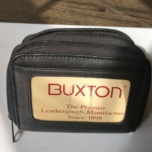 Buxton Compact leather credit card & money wallet